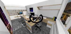 3D vizualizácia kancelárie