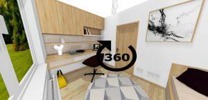 3D panoráma funkčná detská izba