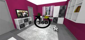 návrh kancelárie a reprezentačnej miestnosti