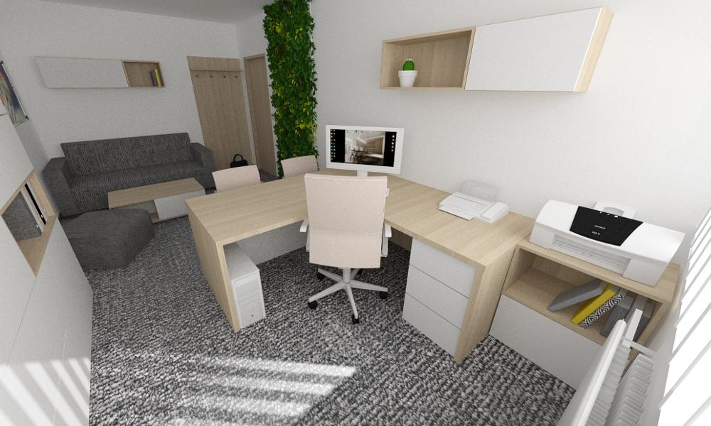 návrhy interiéru - pracovna
