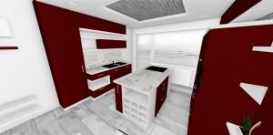 velká kuchyn v malom byte