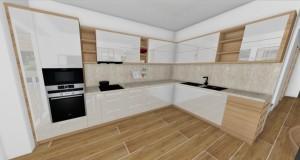 Kuchyna s bielymi dvierkami