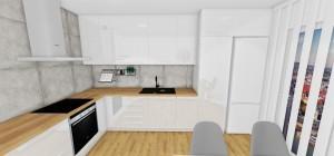 kuchyna s bielym leskom