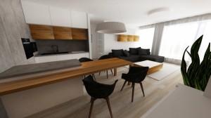 kuchyn spojená s obývačkou