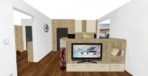 TV zostava v obývačke