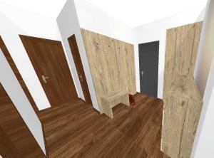 predsieň 3-izbového bytu