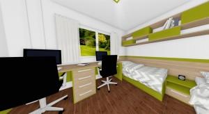 postele s nočným stolíkom a policami