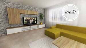 dizajn obývacia stena