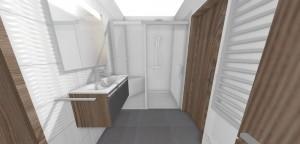 sprchový kút s posuvnými dverami