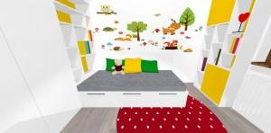 nevšedné využitie priestoru pri posteli