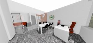 konferenčná miestnosť za sklenenými otváranými dverami